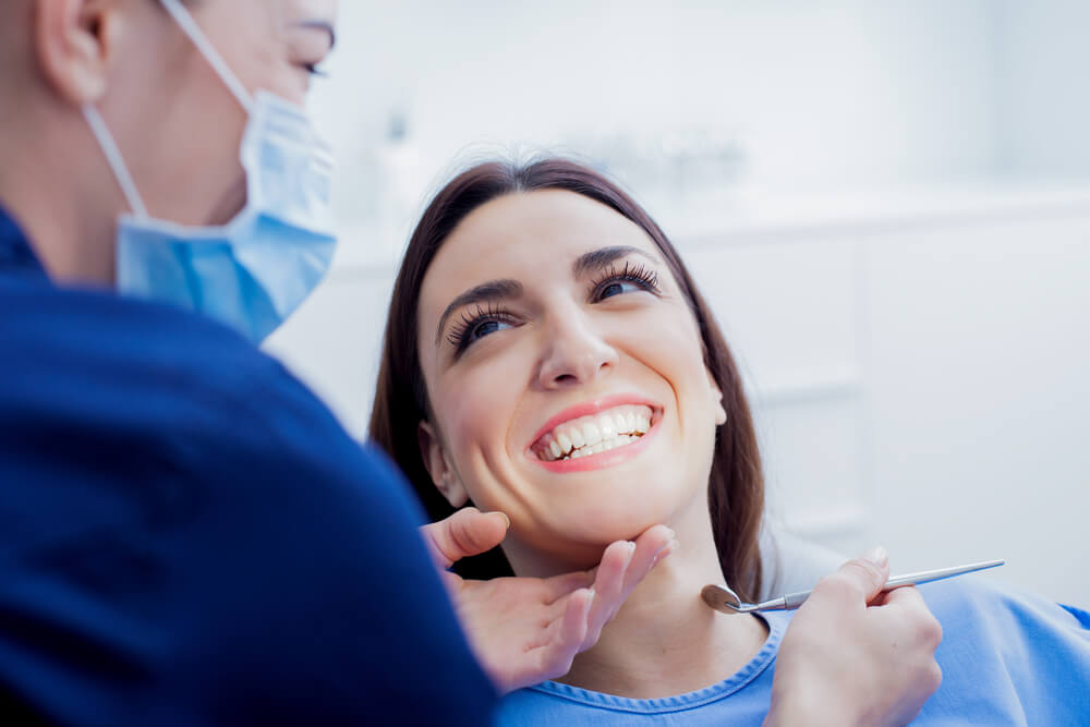 Preventative teeth cleaning showing the concept of Services